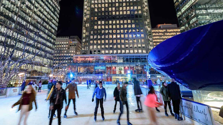 Pop Up Ice Rink & Restaurant – Canary Wharf London