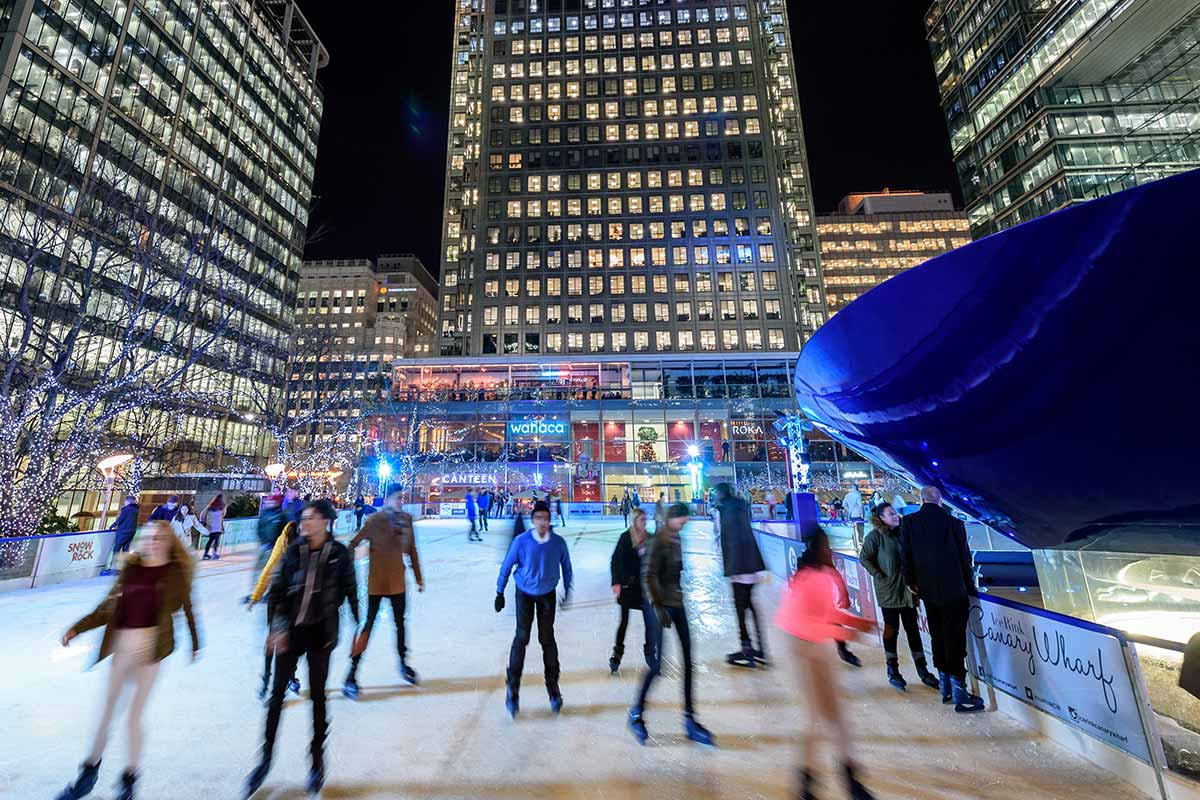 Pop Up Ice Rink & Restaurant – Canary Wharf London